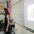 Samantha Bayne, junior, gives a presentation about gender for the topic of gender in politics.