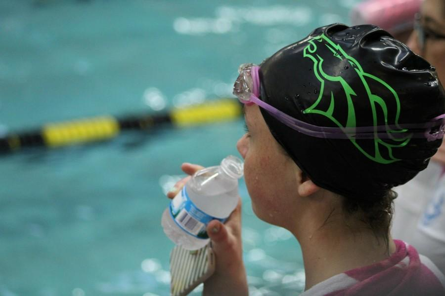 Girls swim competes at Conference