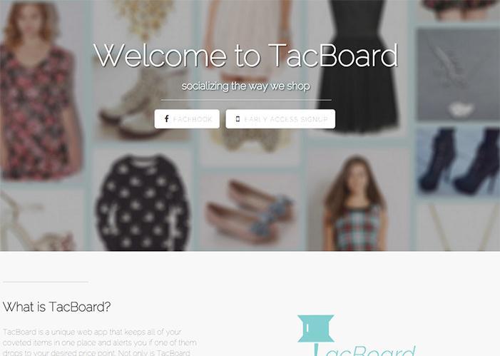 Tacboard Unveiled: Student helps create shopping and social media fusion website