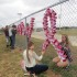 Sophomores Lizzy Konopelski and Paige Knittle decorate for Red Ribbon Week, the week of Oct. 26. SADD members planned the week with the help of National Council on Alcoholism and Drug Abuse representative, Lori Krueger.