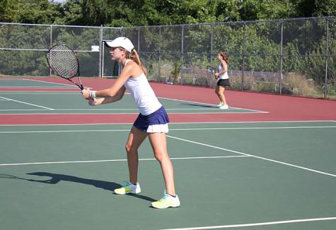Varsity girls tennis aces beginning of season, to play Lafayette today
