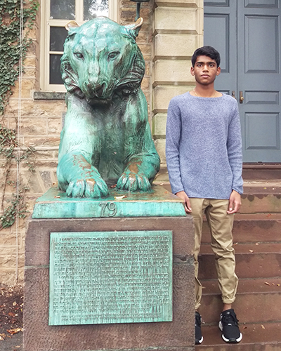 Imai Anabayan, senior, is pictured on the Princeton campus during the three day symposium.